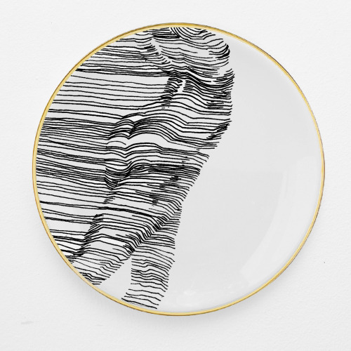 Nude Illustrated Ceramic Plate by Charlotte Edey